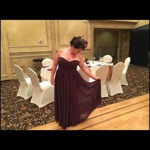 Barijay bridesmaid dress eggplant size 20